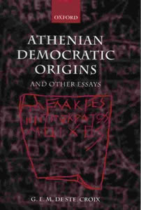 Athenian Democratic Origins, and other essays (2004)<br /><a href='/classics/staff/harvey/'>David Harvey</a> (Co-ed.)