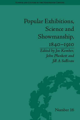 Popular Exhibitions, Science and Showmanship, 1840-1910 (2012)<br />Edited by <a href='/english/staff/kember/'>Joe Kember</a>, <a href='/english/staff/plunkett/'>John Plunkett</a> and <a href='/english/staff/sullivan/'>Jill Sullivan</a>
