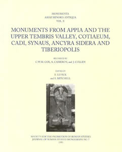 Monuments from Appia and the Upper Tembris Valley... (1993)<br /><a href='/classics/staff/mitchell/'>Stephen Mitchell</a> (Co-ed.)