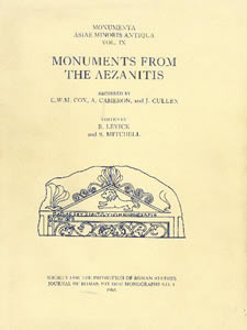 Monuments from the Aezanitis (1988)<br /><a href='/classics/staff/mitchell/'>Stephen Mitchell</a> (Co-ed.)
