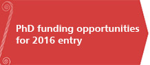 Current PhD funding opportunities